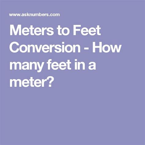 27 meters in feet 25 best ideas about meter conversion on pinterest