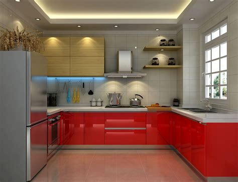 red lacquer kitchen cabinets red lacquer kitchen cabinet in grey color scheme