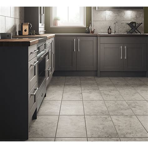 Kitchen Floor Tiles Wickes Shale Travertine Grey Ceramic Tile 600 X 300mm Wickes Co Uk