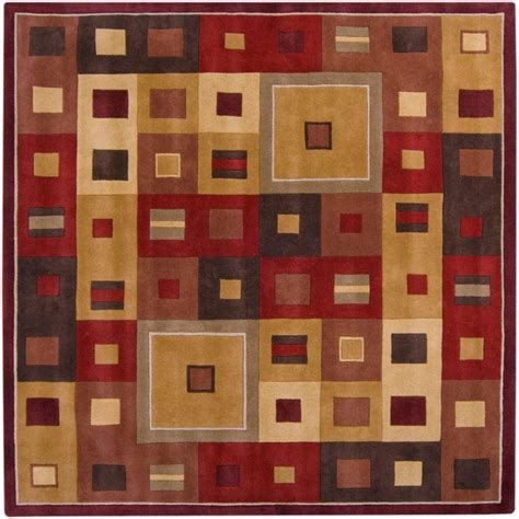 square area rugs 9 x 9 artistic weavers ramatuelle burgundy wool 9 x 9 square area rug the home depot canada