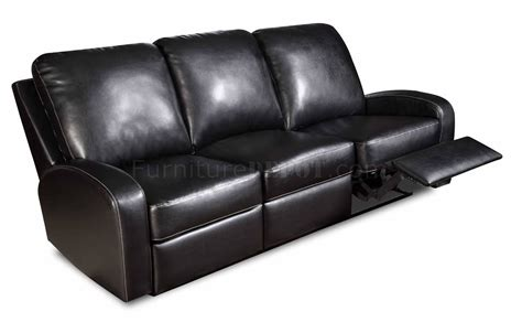 Black Bonded Leather Modern Double Reclining Sofa Black Leather Recliner Sofa Set