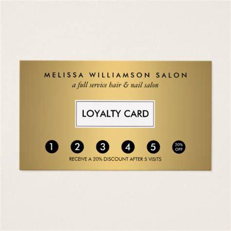 customer loyalty punch cards templates simple faux gold customer loyalty punch card zazzle