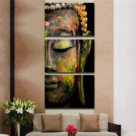 oil painting on 3 piece cheap modern paintings for living online buy wholesale buddha painting from china buddha