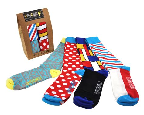 crazy pattern dress socks fun mens dress socks colorful gift pack of 4 boost your