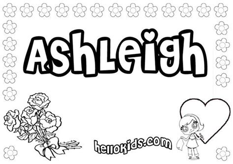 coloring pages of the name ashley ashleigh coloring pages hellokids com