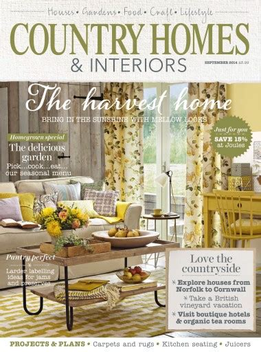 country homes and interiors magazine offers idea home