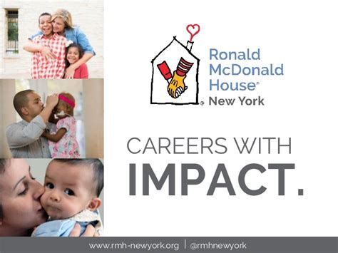 ronald mcdonald house nyc careers with impact ronald mcdonald house new york