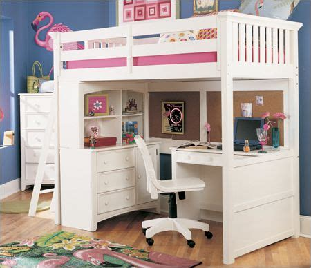 bunk beds for girls with desk exotic white loft beds with desk for girls rooms design