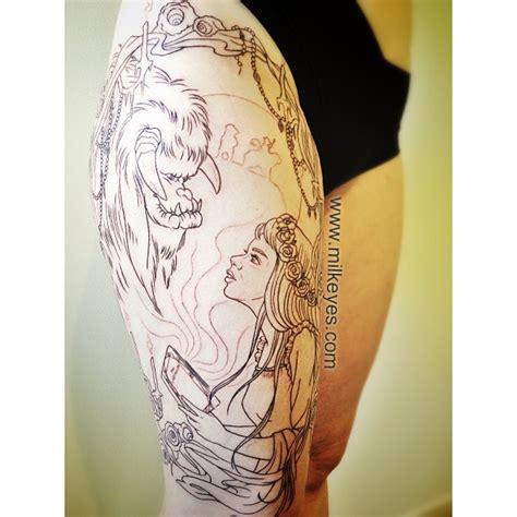 labyrinth tattoo designs the labyrinth ludo thigh jim henson www milkeyes