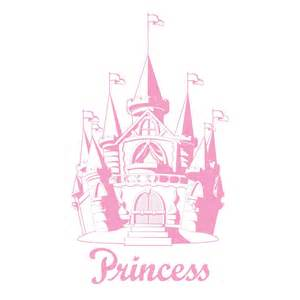 Repositionable Wall Murals pink castle princess fantasy giant wall sticker