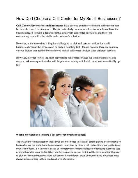how do i my how do i choose a call center for my small businesses pdf docdroid