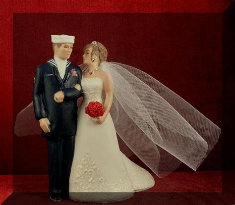 cake toppers navy wedding cake toppers