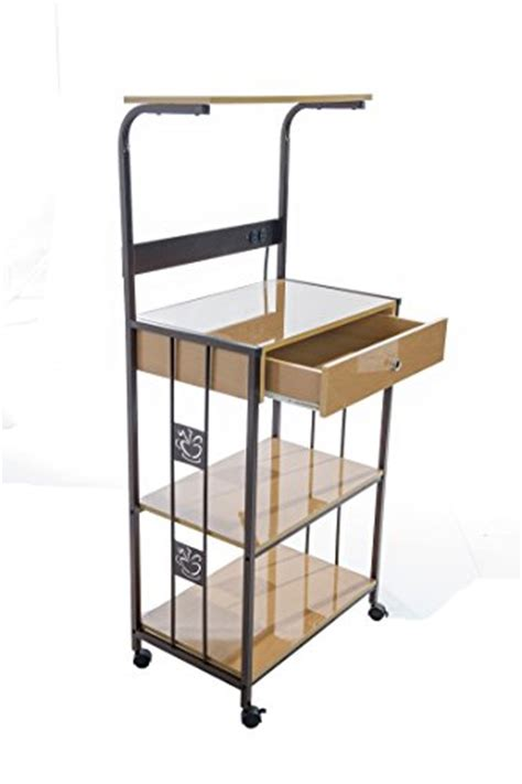 Kitchen Cart For Microwave And Toaster Oven home source industries r0018 beech microwave cart with 2 electrical outlets drawer and 2 shelves