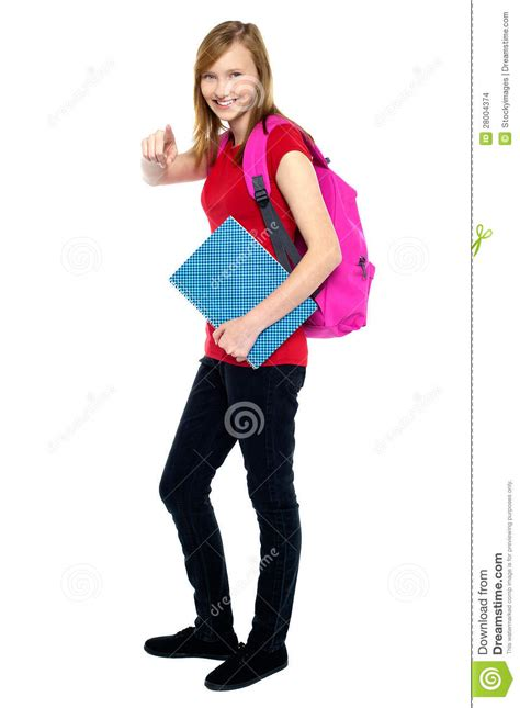 dreamstime high school girls trendy high school girl pointing at you stock images
