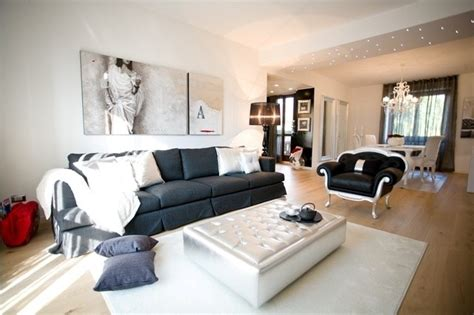 arredamento contemporaneo soggiorno sofisticato progetto con arredamento elegante