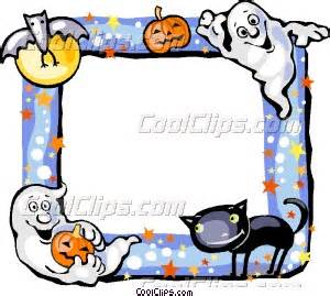 halloween frame vector clip art