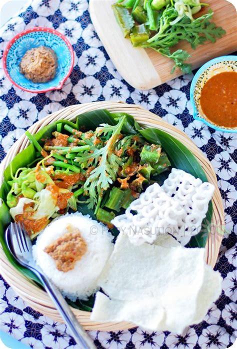 pecel recipe java style salad  peanut sambal