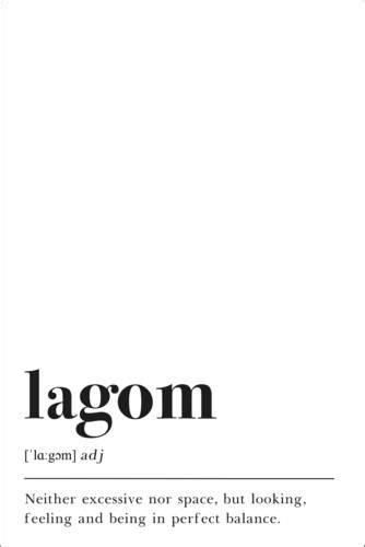 Definición de Lagom (inglés) de Pulse of Art | Posterlounge.es