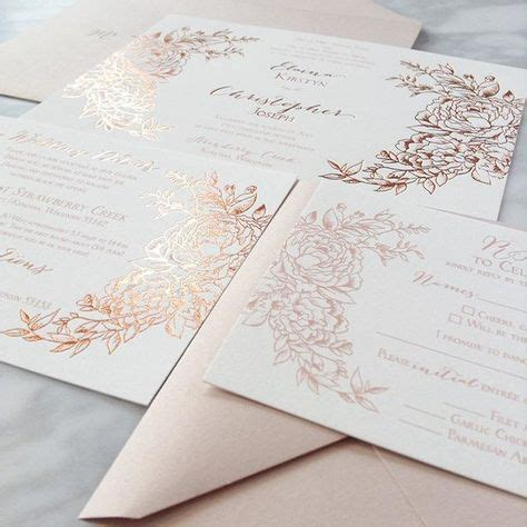 custom foil sted wedding invitations 54 best black copper weddings images on marriage wedding and copper wedding