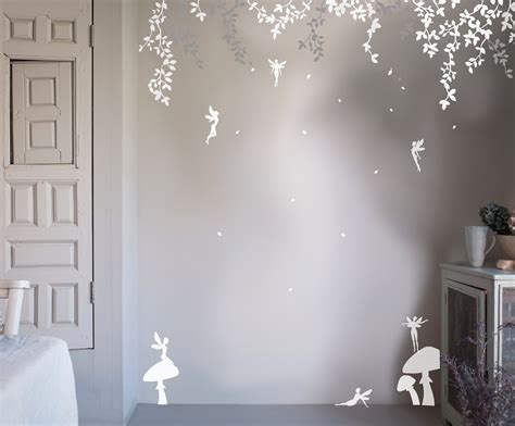 Wall Stickers Beautiful Fairies Interior Home Wall Bambizi Enchanted Forest Wall Sticker