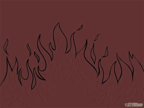 Drawing Flames by How To Draw Flames 14 Steps With Pictures Wikihow