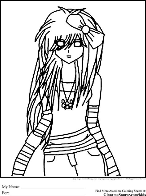 emo coloring pages 3 coloring pages pinterest