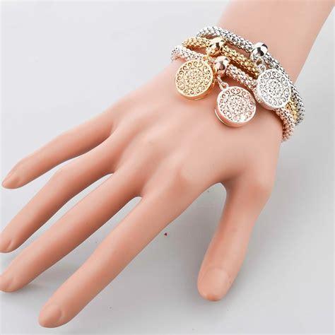 Fashion Bracelet Gold 3 pcs bracelet bangle fashion jewelry gold silver