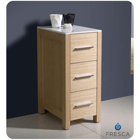 side cabinet bathroom fresca torino 12 quot light oak bathroom linen side cabinet