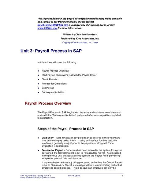 sap tutorial manual erptips sap training manual sle chapter from basic payroll