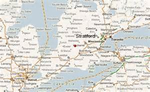 stratford ontario canada map stratford canada location guide