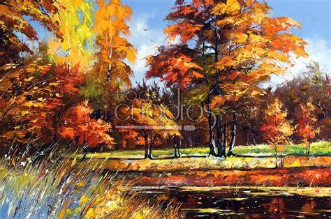 paisaje de otoo serie cuadro oto 241 o paisaje cestre al estilo impresionista