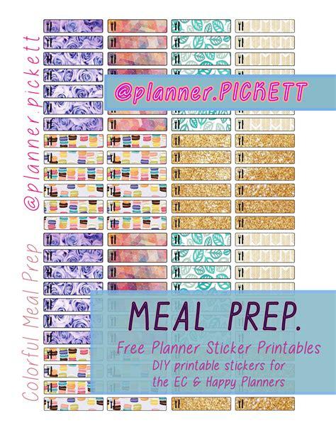 printable meal prep planner planner pickett free printables