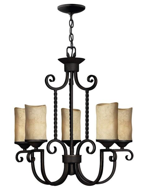 Pillar Candle Chandeliers Hinkley Lighting 4015ol Olde Black Casa 5 Light 1 Tier Candle Style Pillar Candle Chandelier