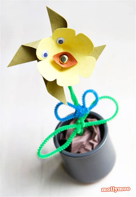 pinwheel paper craft mollymoocrafts paper flower pinwheel craft for
