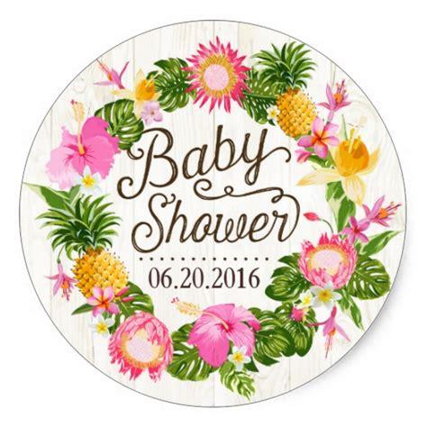 Luau Baby Shower by Luau Hawaiian Rustic Baby Shower Label Classic