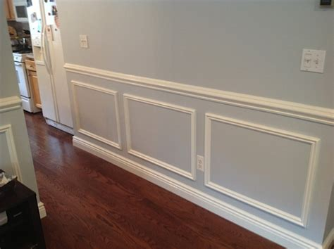 Dining Room With Chair Rail wainscoting crown molding