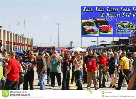 Garage Tours by Nascar Garage Tours Are Popular Editorial Stock