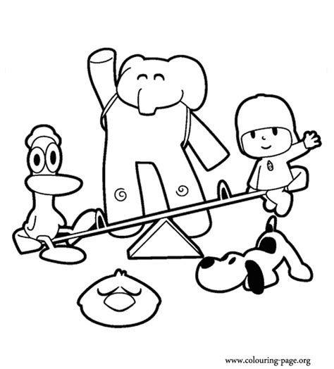 pocoyo coloring pages az coloring pages