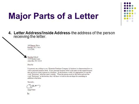 Business Letter Inside Address Inside Address Of A Business Letter The Best Letter Sle