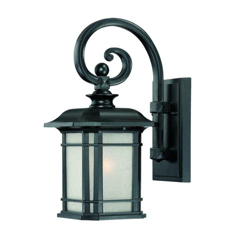 Home Depot Outdoor Light Fixtures Acclaim Lighting Somerset Collection 1 Light Architectural Bronze Outdoor Wall Mount Light