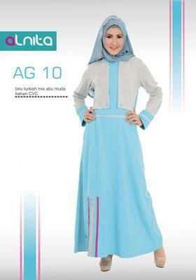 Alnita Gamis Ag 45 jual baju gamis alnita biru turkish mix abu muda murah