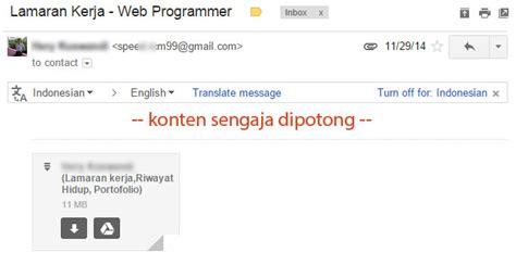 email hrd 5 tips singkat mengirim lamaran kerja melalui email