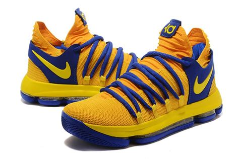 nike shoes for basketball on sale 2017 nike kd 10 yellow blue men s basketball shoes for