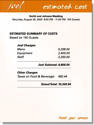 sle catering invoice stationary bill sle