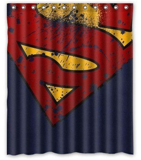 superman shower curtain logos photo booth background and superman logo on pinterest