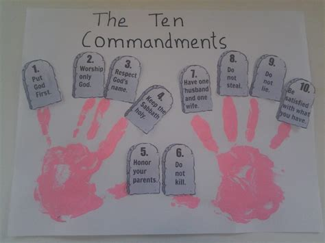 10 commandments craft for coloring pages teaching bible stories to children moses