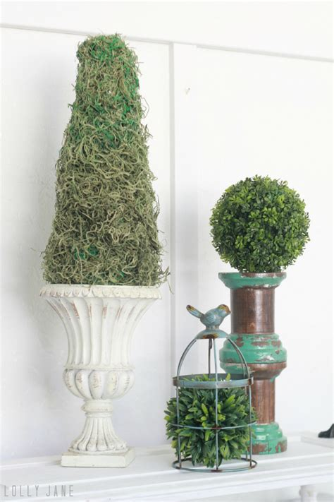 diy topiaries easy diy moss topiary using moss and a styrofoam cone
