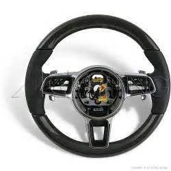 Steering Wheels Porsche Porsche Carbon Leather Pdk Steering Wheel 991 Cayenne 958