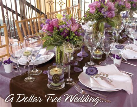 dollar tree table wedding decorations on a budget romantic decoration