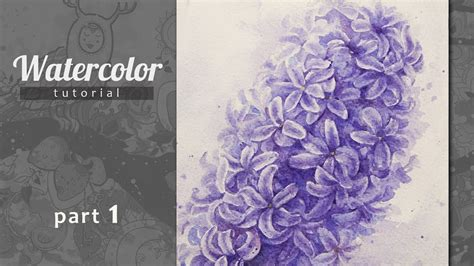 watercolor tutorial part 1 how to draw a hyacinth watercolor tutorial part 1 youtube